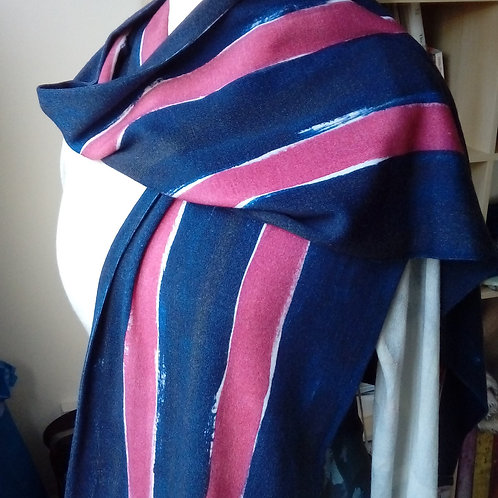 Hand painted college scarf