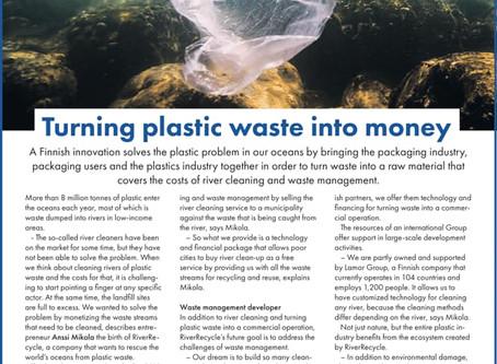 Turning plastic waste into money