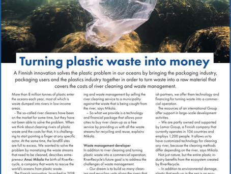Turning plastic waste into money