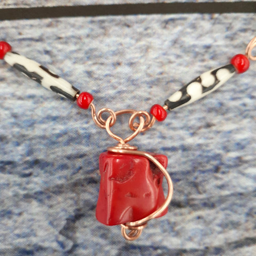 Coral and Ivory Set