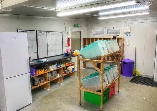 Well organised, hygenic feed & welfare rooms