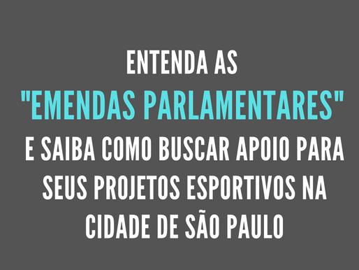 Seus projetos esportivos podem receber recurso de vereadores na cidade de São Paulo. Saiba como.