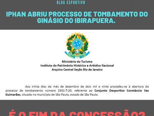 IPHAN abre processo de Tombamento do Ginásio do Ibirapuera: é o fim da concessão?