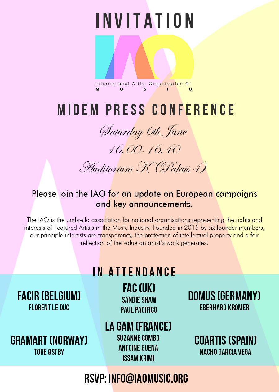 Invitation to press conference southernsoulblog iao press conference at midem international artist organisation stopboris Choice Image