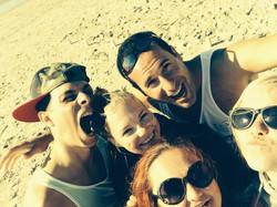 Beach fun mit good old friends