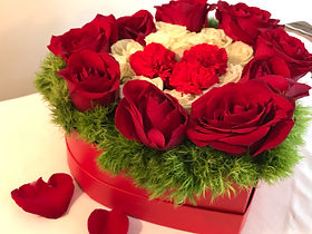 Heart with Red Mini Carnations.jpg