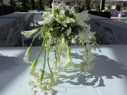 Lilies Orchids and Pearls are a Bride's Best Friend