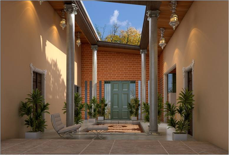 Serene and Tranquil Courtyards