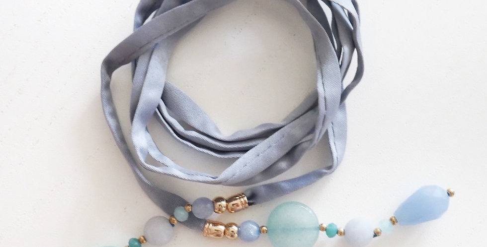 BLUE SILK // NECKLACE