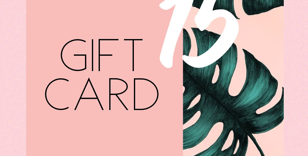 GIFT CARD FIFTEEN //
