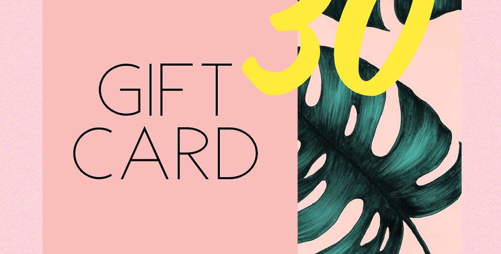 GIFT CARD THIRTY //