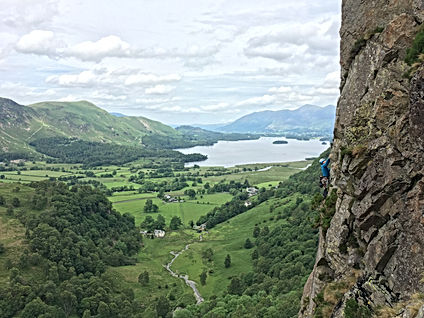 Rock climbing at Black Crag - Borrowdale
