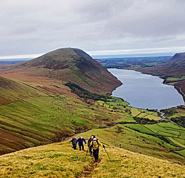 guided walking on Scafell Pike Lake District