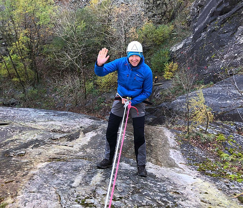Abseiling with Lake District Mountaineering