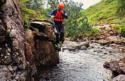 Stickle Ghyll jumps