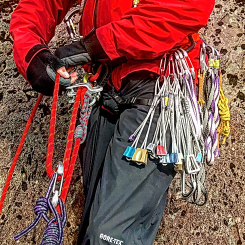 Rock climbing rescue and problem solving