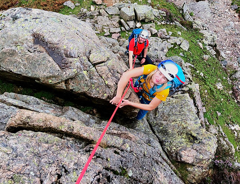 Scrambling in Langdale - Middlefell Buttress