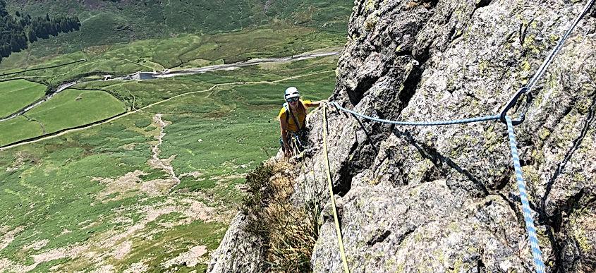 Gimmer Crag - Bracket & Slab Route