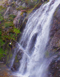 Big waterfall abseils with Lake District Mountaineering - Fisherplace Ghyll