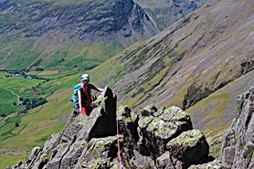 Classic Rock in the Lake District - Needle Ridge on The Napes - Great Gable
