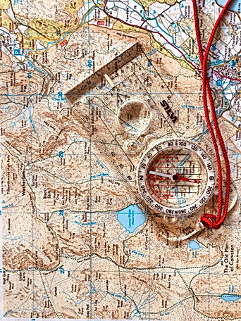 Map and compass navigation
