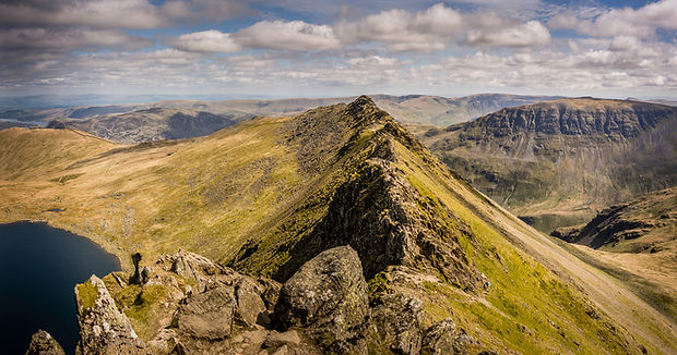 View from the top of Helvellyn Lake District - Guided Walking with Lake District Mountaineering