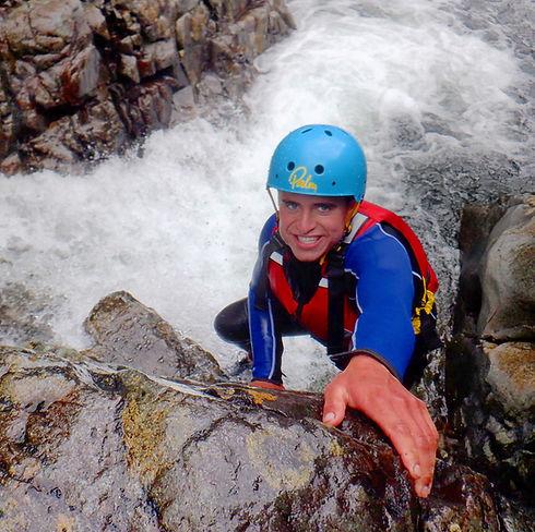 Scrambling in the Esk Gorge