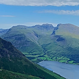 Views over towards Scafell Pike and the Scafell Massif