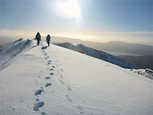 Winter Walking in Scottish Highlands