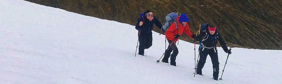 Winter walking in western Scotland