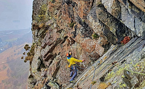 Rock Climbing - Troutdale Pinnacle - Borrowdale