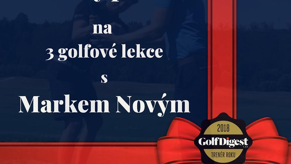 Dárkový poukaz na 3 golfové lekce s Markem Novým