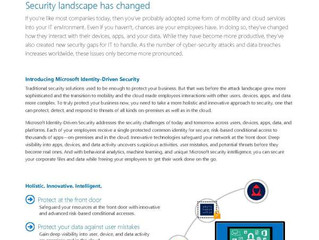 Microsoft identity-driven security