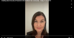 Chatting about Security of Payment in the Redland City Community - Friday 11 Oct 2019