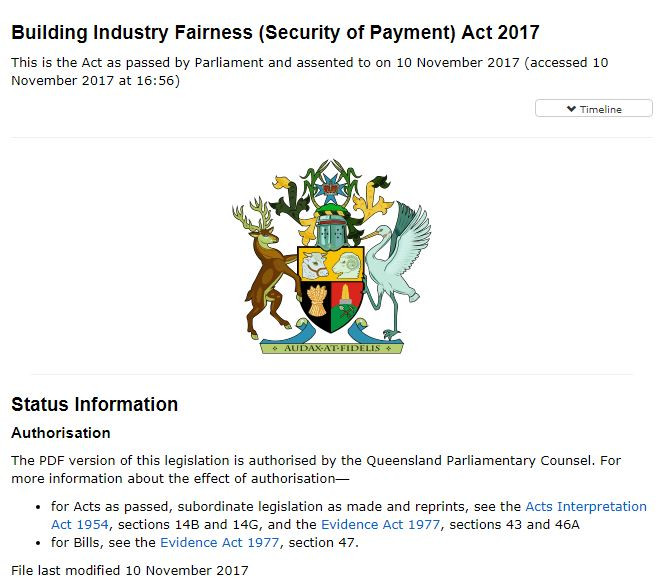 Building Industry Fairness (Security of Payment) Act 2017