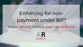 Not all invoices are payment claims under the BIF Act