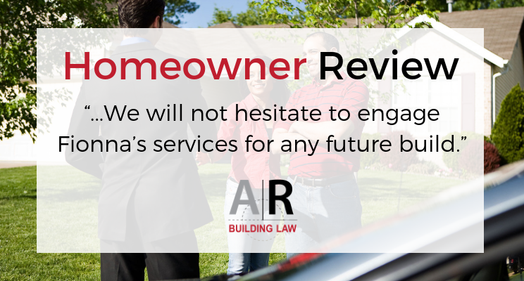 Homeowner FAQ - Have you any testimonials from your clients? - Call us on 07 3128 0120 or email us at homeowners@arbuildinglaw.com.au - www.homeowners.arbuildinglaw.com.au