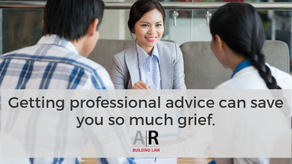Getting professional advice can save you grief