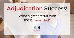 Adjudication success for subbie