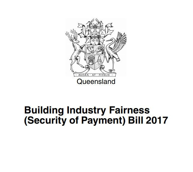 Building Industry Fairness (Security of Payment) Bill 2017