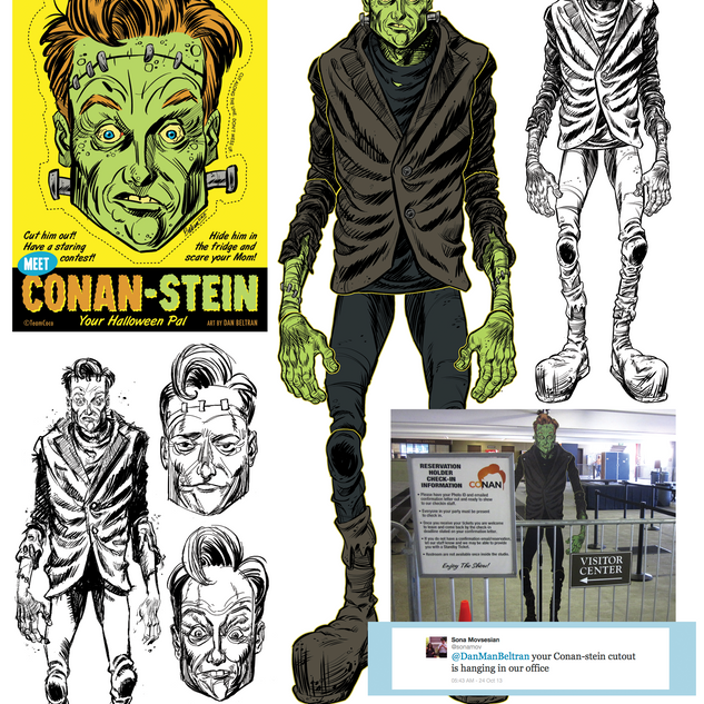 Conan-Stein cutout and face mask