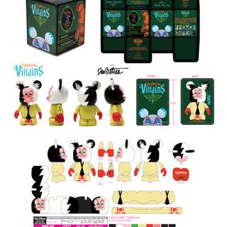Vinylmation Villains logo/packaging/doll design