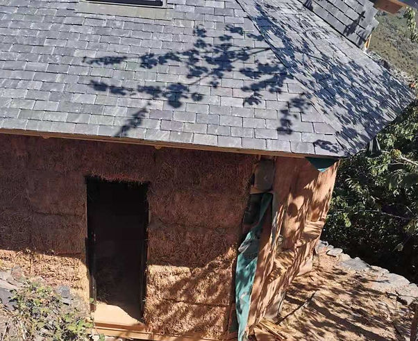 stone slate house spain