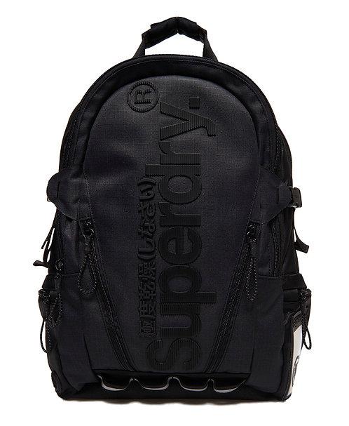 Superdry Line Tarp Backpack Black Угольно/черный непромокаемый мужской рюкзак Superdry для плохой погоды.