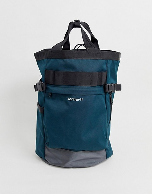 Carhartt WIP - Backpack Payton Carrier 23,4 L  Black-aquamarine Прочный мужской рюкзак cordura