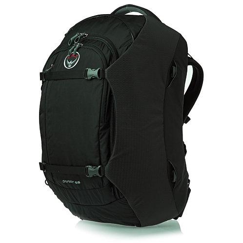Osprey Porter 65 Travel - Black Очень вместительный рюкзак-сумка! Мужской большой черный рюкзак!