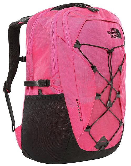 Женский очень прочный рюкзак бледно розового цвета TNF WOMEN'S BOREALIS - MR.Pink Ripstop/TNF Black