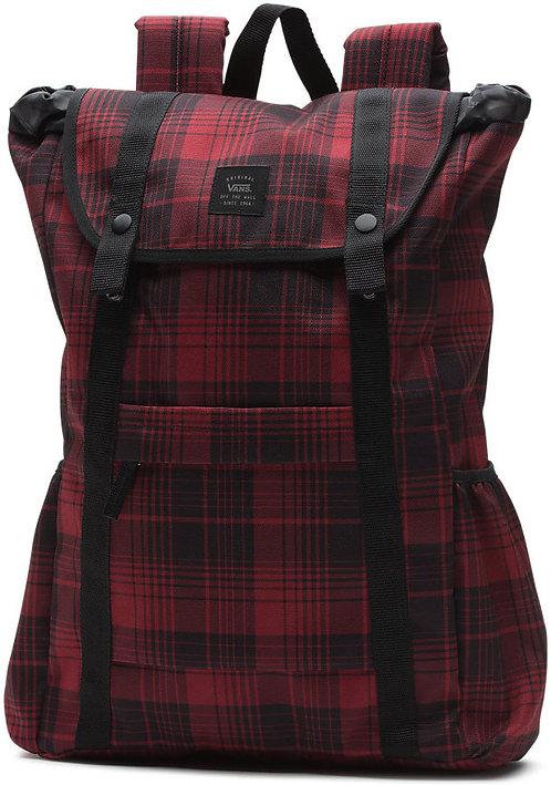 Красно-черный рюкзак Vans для девушек.
