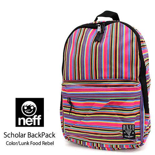 Neff SCHOLAR BACKPACK Color/Lunk Food Rebel-Цветастый женски рюкзачок