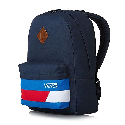 Vans Old Skool Ii Backpack Dress Blues-racing Red+Vans CLASSIC PATCH blue Синий рюкзак+Кепка Vans!